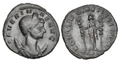 Ancient Coins - SEVERINA, wife of Aurelian, 270-275 AD.  Æ Antoninianus.