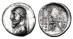 Ancient Coins - PARTHIA.  Artabanos III, 126-122 BC.  AR Drachm.  ex PNC collection.