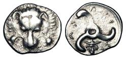 Ancient Coins - LYCIAN DYNASTS.  Perikle, 380-360 BC.  AR Third Stater.  Rare.