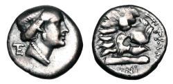Ancient Coins - CARIA, Knidos.  330-250 BC.  AR Drachm.