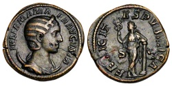 Ancient Coins - JULIA MAMAEA, mother of Severus Alexander, died 235 AD.  AE Dupondius.