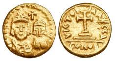 BYZANTINE EMPIRE.  Constans II, 641-668 AD.  Gold Solidus.