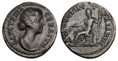Ancient Coins - THRACE, Trajanopolis.  Faustina II, wife of Marcus Aurelius, d.175 AD.  Æ26.   ex Hutchins collection.