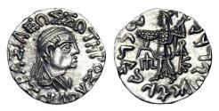 Ancient Coins - INDO-GREEK. Zoilus II, 55-35 BC.  AR Drachm.