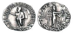 Ancient Coins - INDO-SCYTHIANS.  Azes I, 57-35 BC.  AR Drachm.  ex PNC collection.