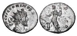 Ancient Coins - VICTORINUS, 268-270 AD.  Silivered Æ Antoninianus.
