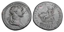 Ancient Coins - TRAJAN, 98-117 AD.  Æ Sestertius.  ex Hoffman collection.