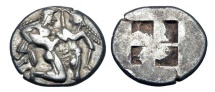 Ancient Coins - ISLANDS OFF THRACE.  Thasos, 550-463 BC.  AR Stater.