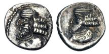 Ancient Coins - PERSIS.  Pakur I, I Century AD.  AR Hemidrachm.