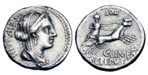 ROMAN REPUBLIC.  L. Censorinus, 82 BC.  AR Denarius
