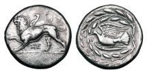 Ancient Coins - SIKYONIA, Sikyon.  360-320 BC.  AR Stater.