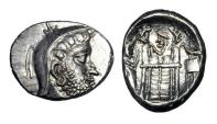 Ancient Coins - PERSIS.  Autophradates II, II Century BC.  AR Drachm.