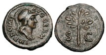 Ancient Coins - DOMITIAN, 81-96 AD.  Æ Quadrans.