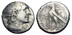 Ancient Coins - PTOLEMAIC KINGDOM.  Cleopatra VII Thea, 51-30 BC.  AR Tetradrachm.  The famous Cleopatra.  Rare.