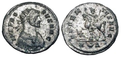 Ancient Coins - PROBUS, 276-282 AD.  Silvered AE Antoninianus