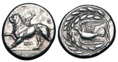 Ancient Coins - SIKYONIA, Sikyon. ca. 330 BC. AR Stater.