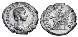 Ancient Coins - ORBIANA, wife of Severus Alexander, 222-235 AD.  AR Denarius.  ex. S. Alexander collection.