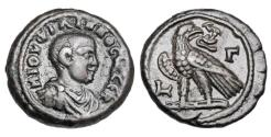 Ancient Coins - ROMAN EGYPT.  Philip II,  247-249 AD.  Potin Tetradrachm, as Caesar.