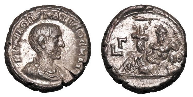 Ancient Coins - ROMAN EGYPT.  Maximus, Caesar, 235-238 AD.  Billon Tetradrachm.  ex PNC collection.