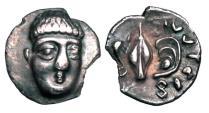 Ancient Coins - CAMPANIA, Phistelia.  325-275 BC.  AR Obol.  ex Sellwood collection.