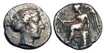 Ancient Coins - BRUTTIUM, Terina.  420-400 BC.  AR Triobol,
