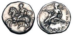 Ancient Coins - CALABRIA, Taras.  344-340 BC.  AR Nomos.