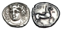 THESSALY, Larissa.  350-325 BC.  AR Stater.