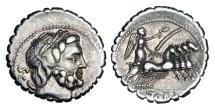 Ancient Coins - ROMAN REPUBLIC.  Q. Antonius Balbus, 83 BC.  AR Denarius.