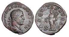 Ancient Coins - PHILIP I, 244-249 AD.  Æ Sestertius.