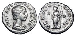 Ancient Coins - JULIA SOAEMIAS, mother of Elagabalus, d. 222 AD.  AR Denarius.