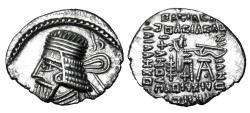 Ancient Coins - PARTHIAN KINGDOM.  Vologases I, 58-77 AD.  AR Drachm.  ex PNC collection.