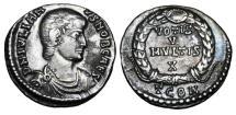Ancient Coins - JULIAN II the APOSTATE, Caesar, 355-361 AD.  AR Siliqua.  ex E. Harptree Hoard.