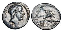 Ancient Coins - ROMAN REPUBLIC.  L. Marcius Philippus, 56 BC.   AR Denarius