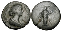 Ancient Coins - FAUSTINA JUNIOR, wife of Aurelius, 161-180 AD.  Æ Sestertius.