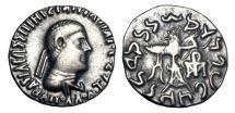 Ancient Coins - BAKTRIAN KINGDOM.  Apollodotos II, 80-65 BC.  AR Drachm.