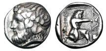 Ancient Coins - THRACE, Thasos.  411-350 BC.  AR Drachm.