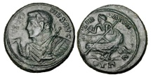 World Coins - LICINIUS I, 308-324 AD.  Silvered Æ Follis.