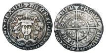 World Coins - ENGLAND.  Henry VI, 1422-1461 AD.  AR Groat …