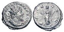 Ancient Coins - POSTUMUS, 259-268 AD.  AR Antoninianus.  ex. R Forman collection.