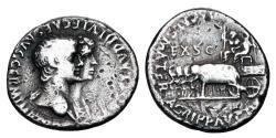 Ancient Coins - AGRIPPINA JR and NERO, 54-59 AD.  AR Denarius.  ex Corbett collection.