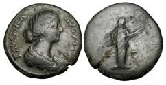Ancient Coins - FAUSTINA JUNIOR, wife of Aurelius, 161-180 AD.  Æ Sestertius.