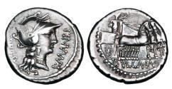 Ancient Coins - ROMAN REPUBLIC.  L. Manlius Torquatus, 82 BC.  AR Denarius.