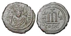 Ancient Coins - BYZANTINE EMPIRE.  Tiberius II, Constantine, 578-582 AD.  ® Follis.   ex Hoffman collection.