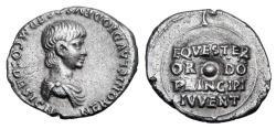 Ancient Coins - NERO, as Caesar under Claudius, 50-54 AD.  AR Denarius.  ex PNC collection.