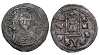 Ancient Coins - BYZANTINE EMPIRE.  Justinian I, 527-565 AD.  Æ Follis.