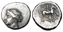Ancient Coins - CALABRIA, Taras.  281-228 BC.  AR Nomos.
