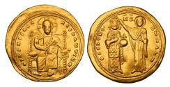 Ancient Coins - BYZANTINE EMPIRE.  Romanos III, 1028-1034 AD.  Gold Histamenon Nomisma.  Very rare without nimbus.
