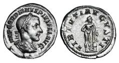Ancient Coins - GORDIAN III, 238-244 AD.  AR Denarius.  Rare.