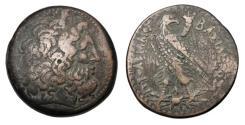 Ancient Coins - PTOLEMAIC KINGDOM.  Ptolemy IV, 221-205 BC.  Æ40 Drachm.