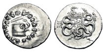 Ancient Coins - MYSIA, Pergamum.  After 133 BC.  AR Cistophoric Tetradrachm.  Choice Near Mint.